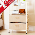 4 Tier Metal Home Decoration Storage Shelves Steel Bedroom Display Shelf Bookshelf With Cloth Drawer Design