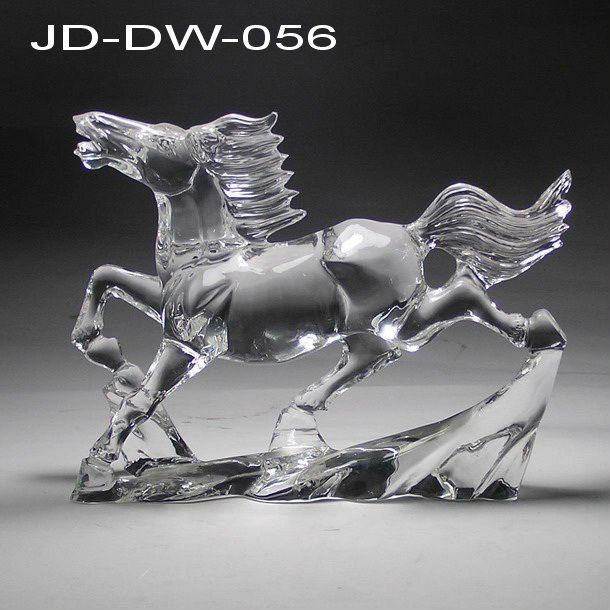 crystal galloping horse for decoration gift