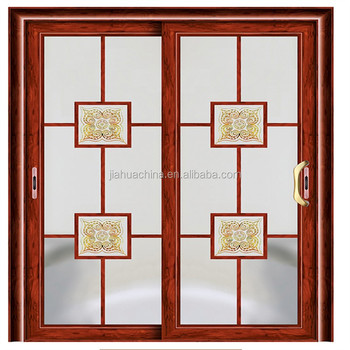 2016 best sale aluminum bathroom glass door double sliding