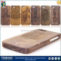 luxury natural carved wood wooden hard case for iphone 6 plus