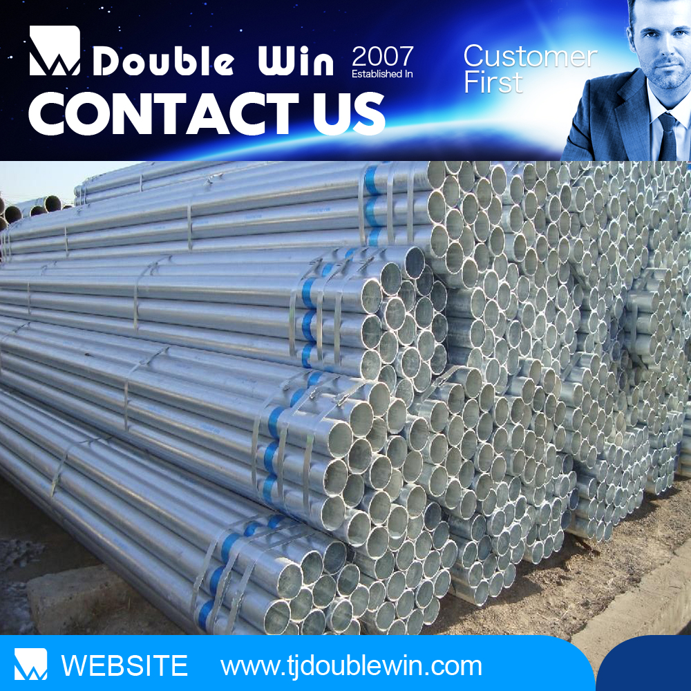 galvanized round tube/pre-galvanized round steel pipe size