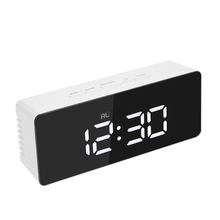Fashionable Bedroom Calendar Alarm Clock LED Digital Mirror Clock
