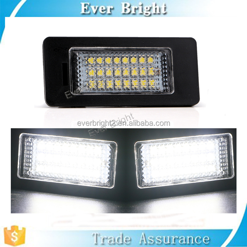 Error Free Canbus 24 led License Plate lights E90 M3 E92 E70 E39 F30 E93 E60