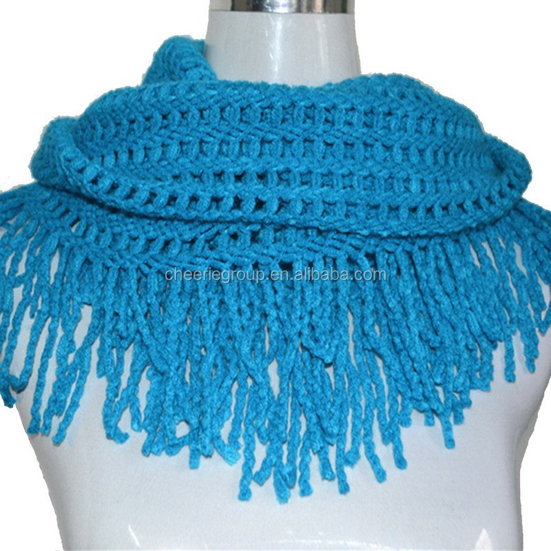 2017 High quality products 100% acrylic color keeping warm knit scarf