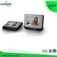 Sunpin mini mobile dual portable dvd player with screen for kids in car