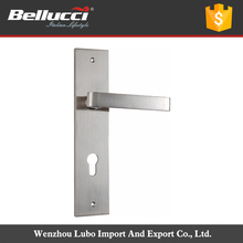 Square Shape Cheap Classic Door Handle On Plate