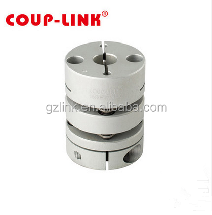 Clamp type aluminum hub and stainless steel disc coupling