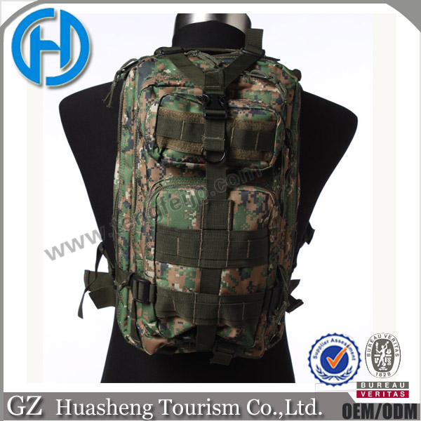 woodland digital color with straps tactical gear bags