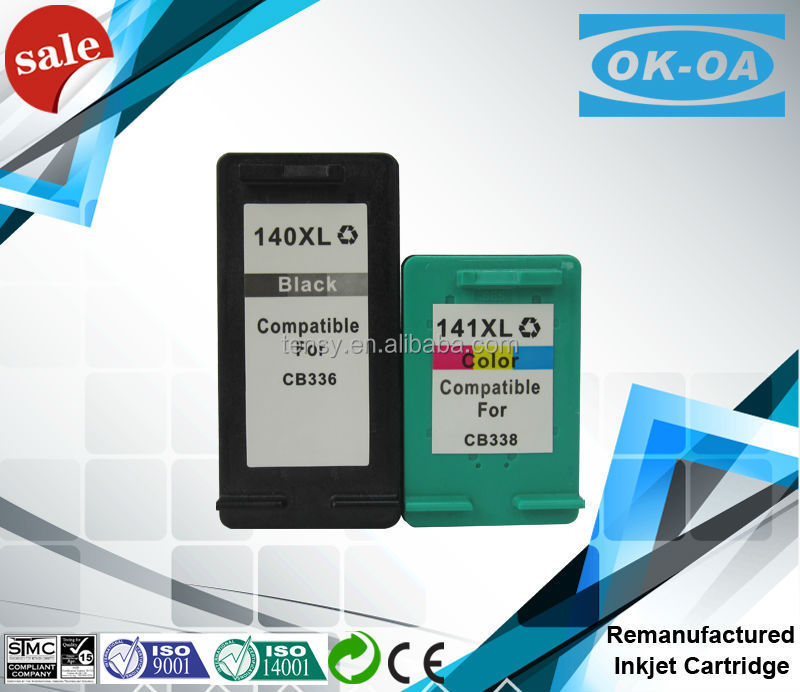 inkjet cartridge for hp 140 141 PG140XL CL141XL show <strong>ink</strong> level with German <strong>ink</strong> for used printers