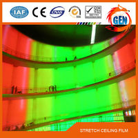 15 years quality guarantee fireproof & waterproof 1.5-5.0M width hot blue film lucky color film for ceiling decoratio