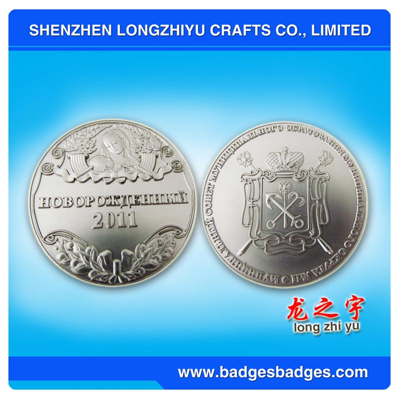 high quality custom silver coins