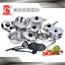 27pcs cookware set stainless steel cooking pot and pan set