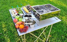 rectangular charcoal bbq grill portable ceramic kamado tabletop bbq grill