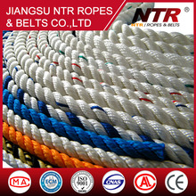 NTR mooring ship rope 3 strand color twisted rope