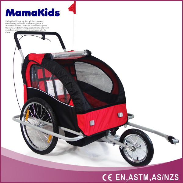 2015 New China Factory easy folding bike trailer/pet stroller trailer for dogs&cats