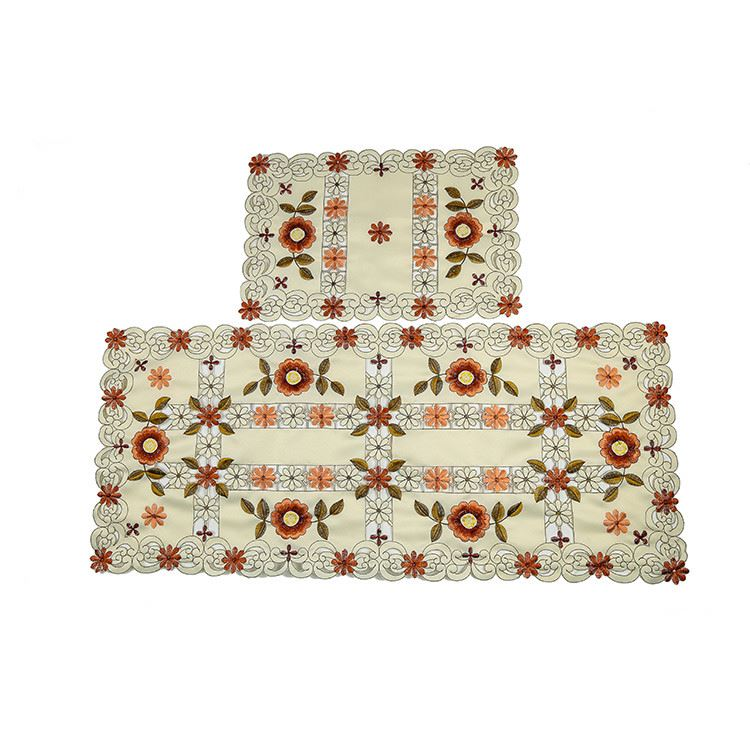 High end good quality artistic knitted handmade hollow out placemat