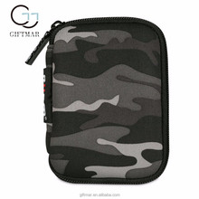 zippered camouflage neoprene electronics sort storage mp3 bag