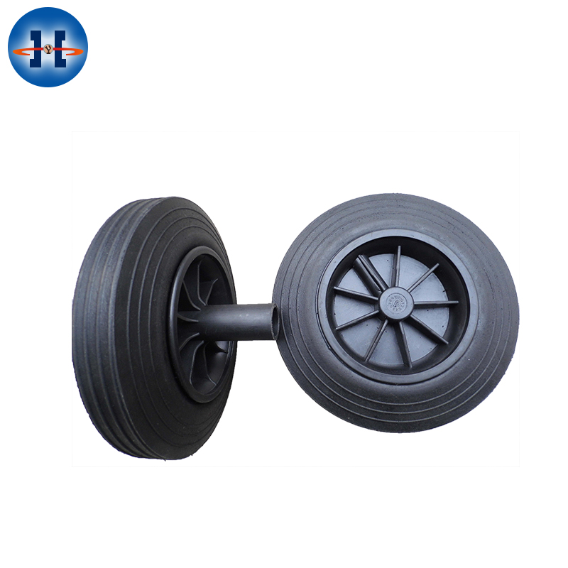 Small Solid Rubber Wheel With Bearings For Wheelbarrow