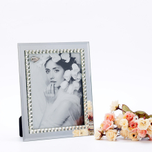 Hot sales crystal glass diamond photo picture frame for decaration
