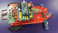 2WD Red Mobile Robot Kit with Light Tracking System Educational Robot for raspberry PI