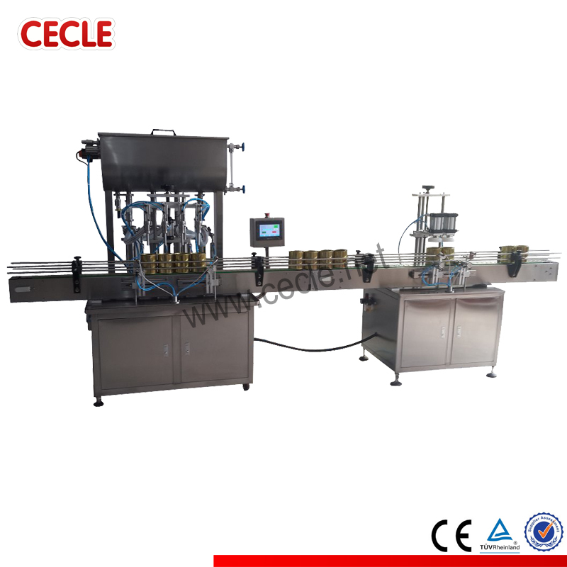 FA4-2600 bottle filling capping and labeling machine, automatic bottle filling line