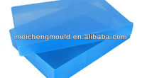 Injection molded plastic container