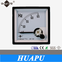 Manufacture high quality Square analog panel meter HZ frequency meter 72*72mm Moving coil type