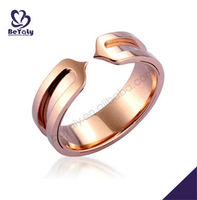 High Quality Rose Gold Plating Sterling Silver Rings Alibaba Wholesale