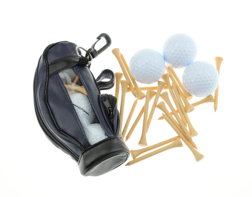Buy Pu Small Golf Bag Gift Set Golf Ball Tool Holder Set With 3pcs