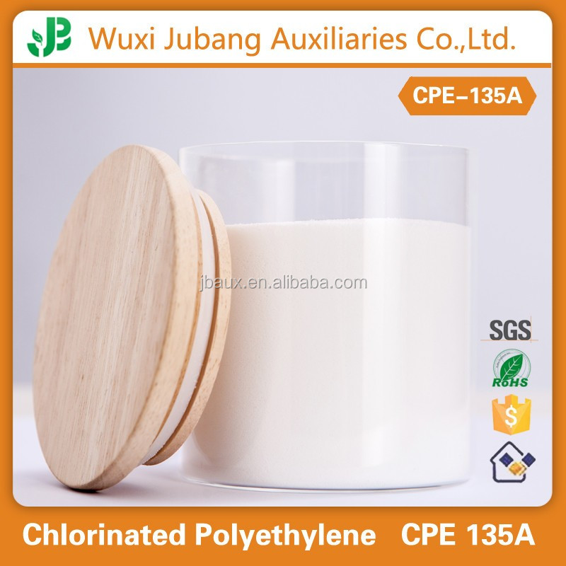 chlorinated polyethylene CPE135A with high flame retardant from WuXi China