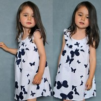 Wholesale Clothing Girls Cotton Frock Designs Butterfly Dresses