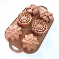 NEW 6 holes flower shape Muffin Candy Ice cake silicone chocolate soap mold silicone baking cake mold Birthday Cake Decorating