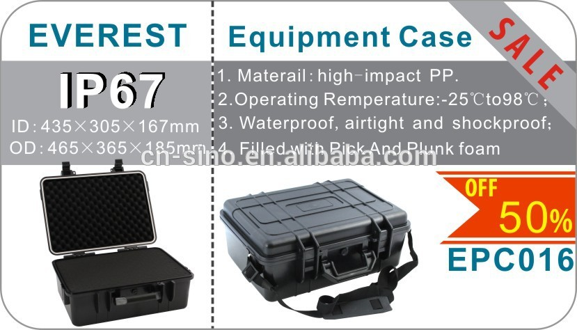 IP67 High Impact Hard Plastic Carrying Case Tool Box