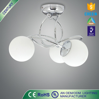 C E/ROHS/UL 3w G9 metal glass ceiling light parts