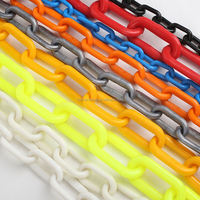 plastic roller chain/colored plastic chain for traffic safety