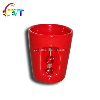 Wholesale ceramic red cup