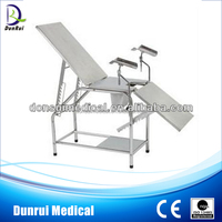 Gynecology Stainless Steel Manual Hospital Birthing Bed