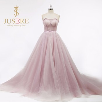 Sexy Seen-through Bodice Sweetheart Purple Ball Gown Evening Dress Long Wholesale Plus Size Evening Dress