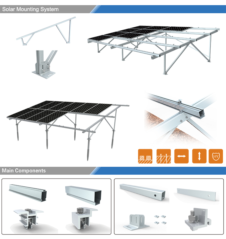 solar mounting system double v structure, solar ground system