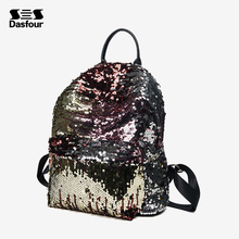 New design fashion pu leather women mermaid sequin backpack bag