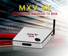 Factory supply Newest Tooling HDTV MXV 4K Android6.0 OTT TV Box S905 Quad Cord 4K IPTV with 2.4G Air mouse provide OEM's service