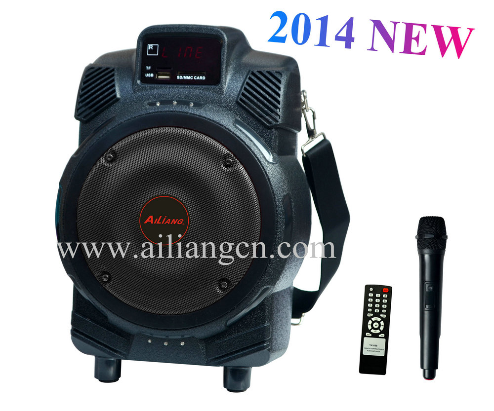 2013 new bluetooth speaker with wireless microphone