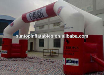 popular inflatable finish arch with customized logo and size