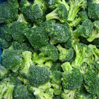 frozen cleaning fresh broccoli