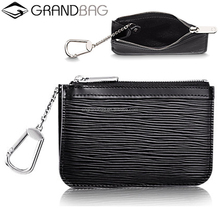 Wholesale Custom Genuine Epi Leather Coin Purse Bag Change Pouch with Key ring