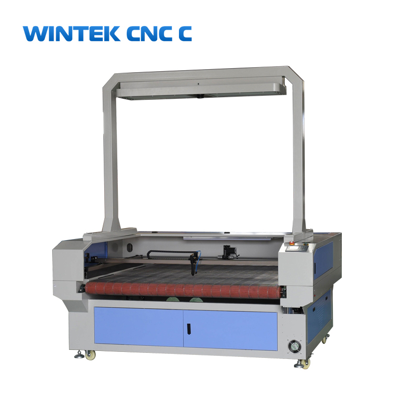 Auto feeding fabric ccd camera scanning <strong>laser</strong> cutting machine for textile,leather,toys