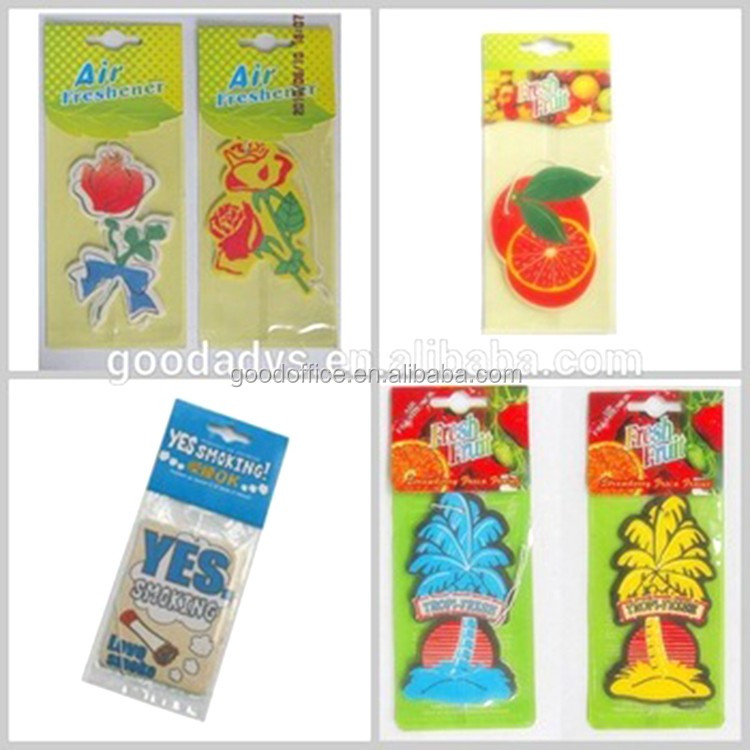 Customized low price promotion gift cars paper air freshener