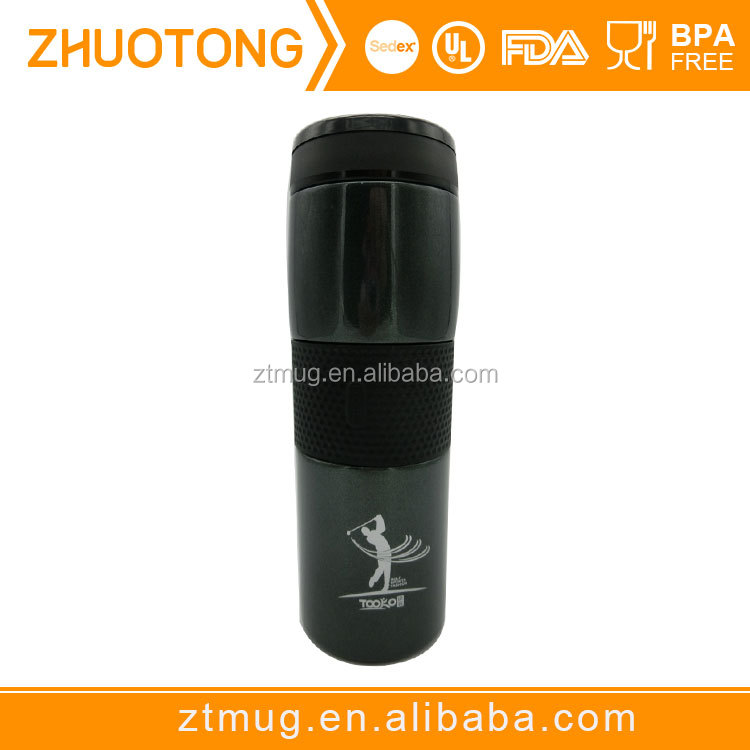 Stainless steel vacuum bottle with grip---top selling unique birthday gifts ideas for men