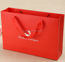 Hot selling luxury custom design size paper shopping/gift bags