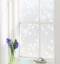 snowflake pvc glass stickers static cling christmas window film